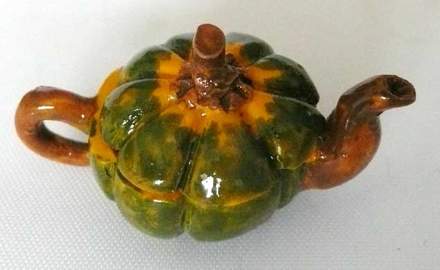 Art Deco Tea Pot Pumpkin