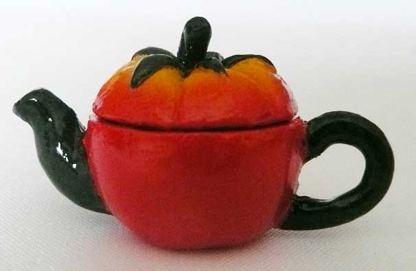 Art Deco Tomato Tea Pot