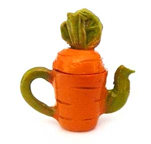 Art Deco Carrot Tea Pot