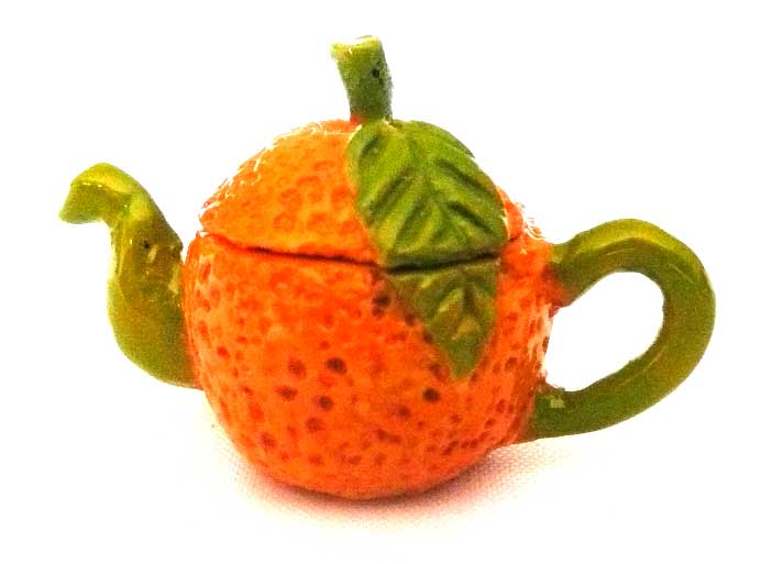 Art Deco Teapot Orange